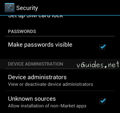 Unknown sources android 4.x