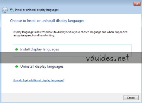 Install Display Languages